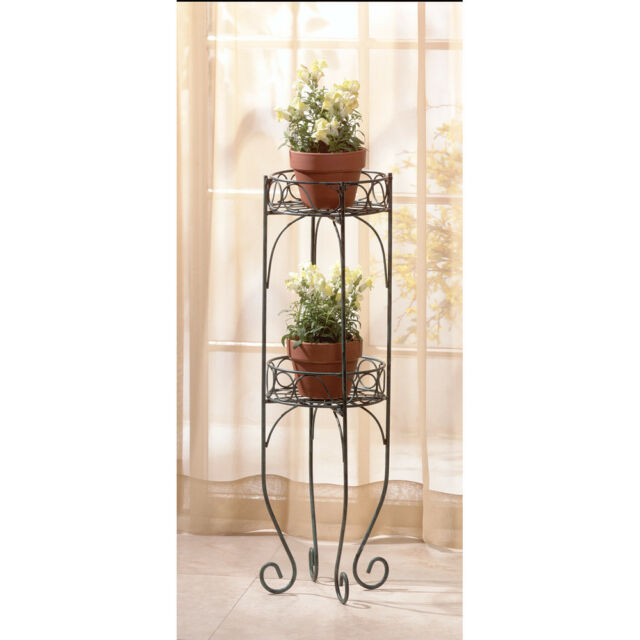 28232 Home Locomotion Two Tier Plant Stand