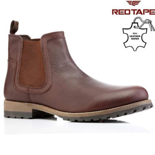 Botas para Hombre de Cuero Chelsea Tobillo Botas Desierto De Motorista librar Formal Zapatos Talla