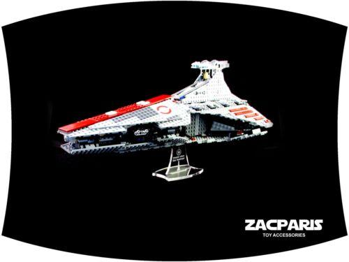 Clear acrylic Nice! DISPLAY STAND for Star Wars Lego 8039 Republic Venator