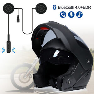 DOT-Full-Face-Motorcycle-Modular-Dual-Visor-Helmet-4-0-EDR-Bluetooth-Headset-US