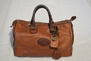 Image Is Loading Mulberry Vintage Brown Croc Congo Leather Bowler Barrel