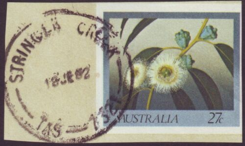 "TASMANIA POSTMARK ""STRINGER CREEK"" DATED 1982 POST OFFICE CLOSED 1986 A11156"