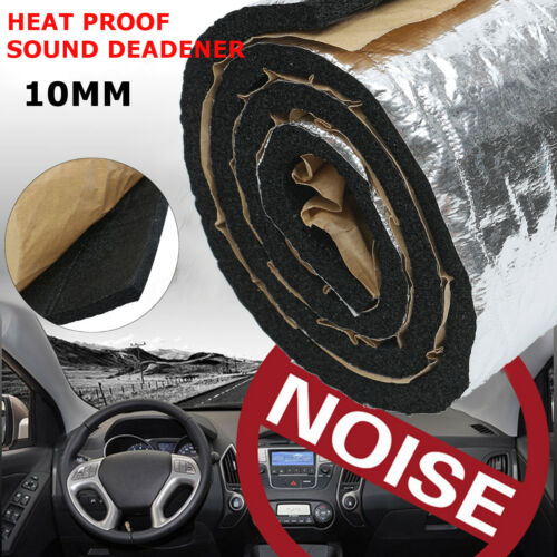 100x55cm Pannello Fonoassorbente Autoadesivo Isolamento Insonorizzare Auto 10mm