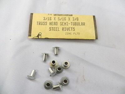 """U.S.A. 3//16"""" x 5//16"""" x 3//8"""" Truss Head Semi Tubular Steel Rivets 100 Pcs"""