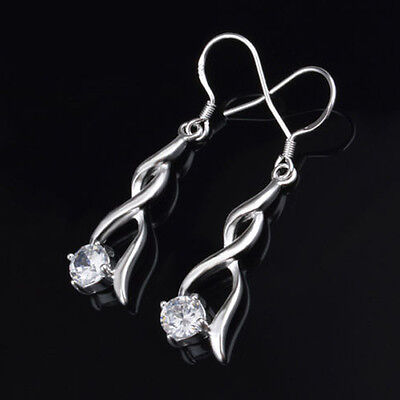 2015 New elegant Solid silver plated vintage  Dangle Earrings Hot Sale