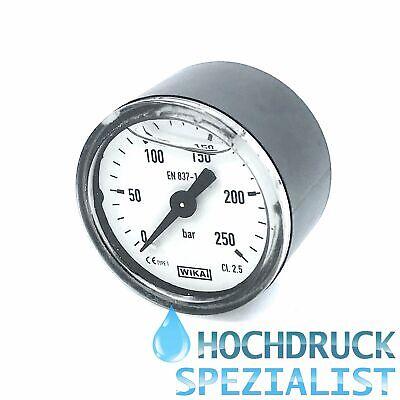 "Manometer glyceringedämpft Hochdruckmanometer 250 bar mit 1//8/"" Anschluß hinten"