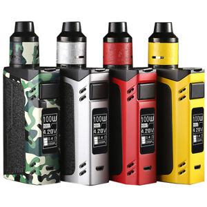 100W-TC-Electronic-e-Cig-Cigarette-RDTA-Shisha-Vape-Pen-Starter-Kit-2600mah