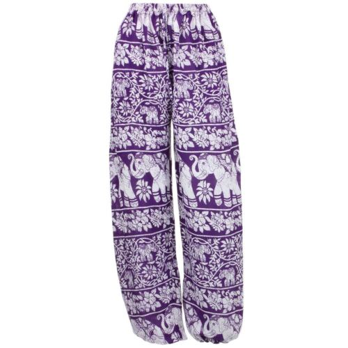 Elephant Trousers Pants Harem Ali Baba Aladdin Yoga Lounge Baggy Ellie Purple