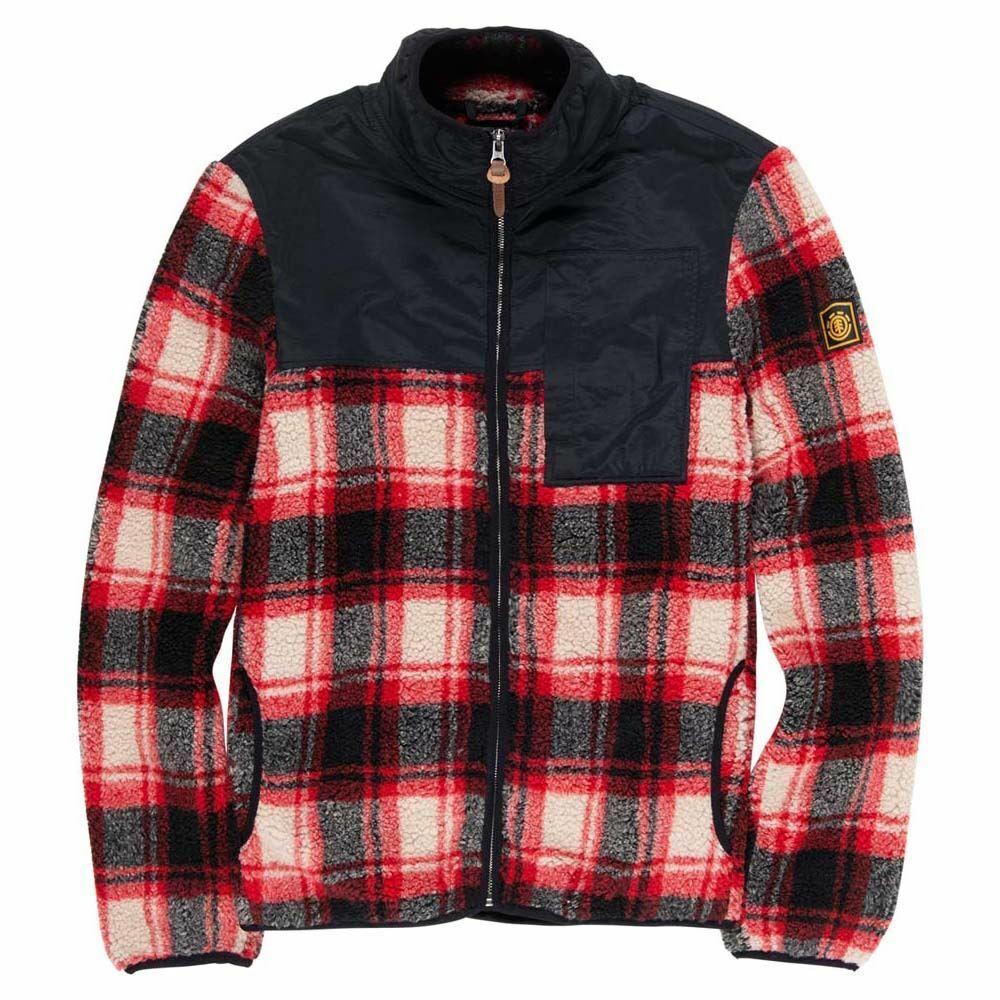 am billigsten Element Abenaki Warm Zip Jacket schwarz rot