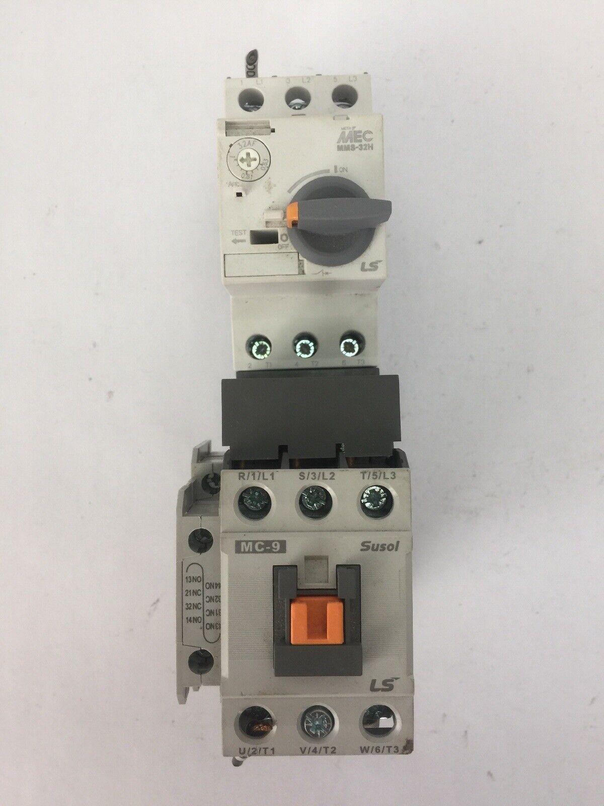 LS MOTOR STARTER MC-9 COIL 24VDC MMS-32H 0.63-1.0A MU-45 RAIL MOUNTING ADAPTOR
