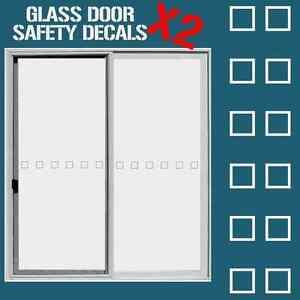 Glass door hazard protection decal sticker set safety glass door image is loading glass door hazard protection decal sticker set safety planetlyrics Gallery