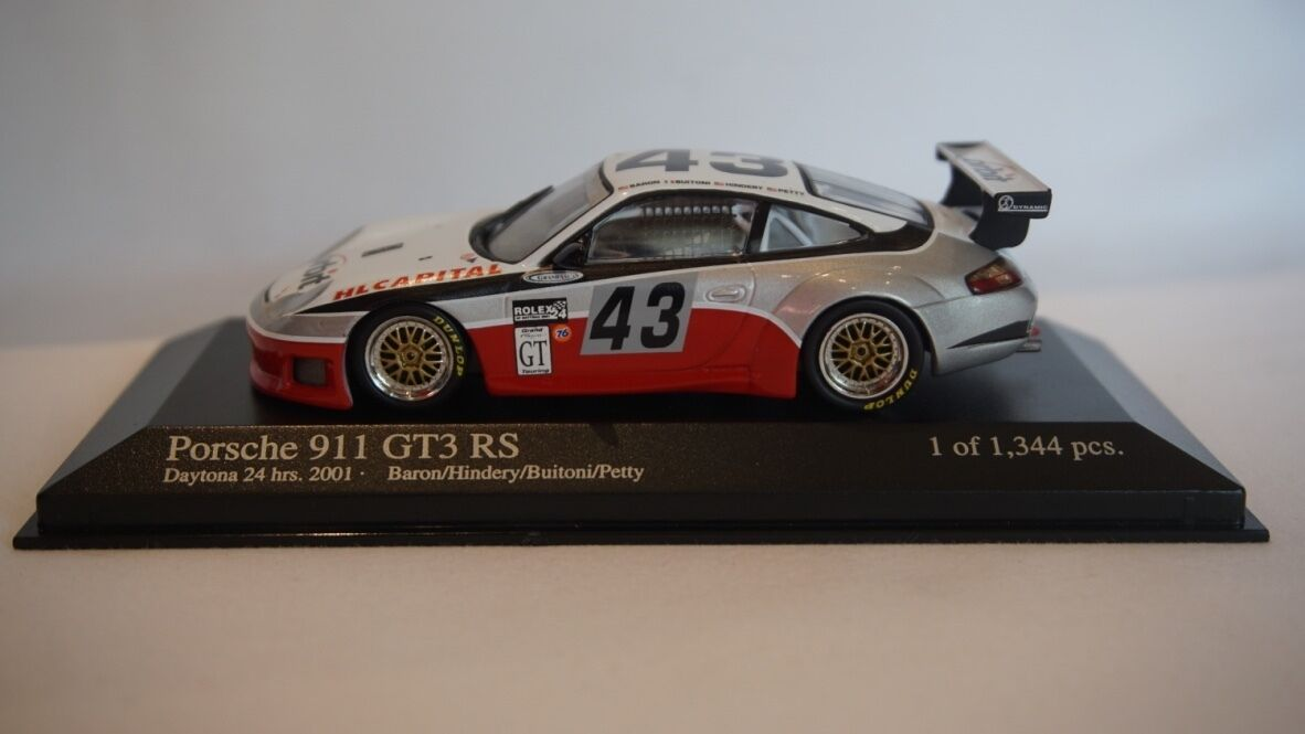 EXTREMELY RARE Minichamps Porsche 911 GT3 R Daytona 24hrs 2001  43