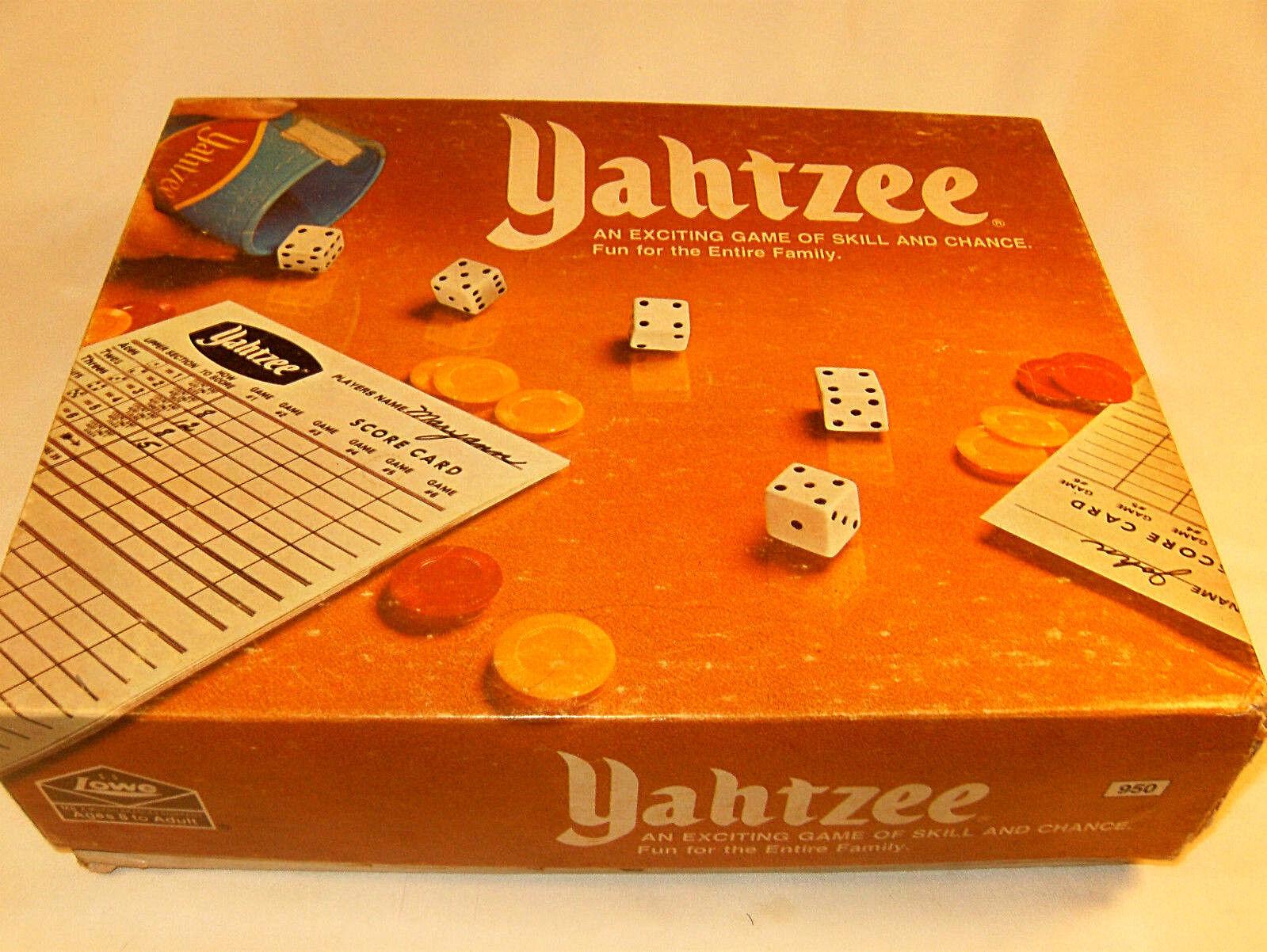 Vintage Dice 1975 ORIGINAL YAHTZEE Dice Vintage Family Board Game E.S. Niedrige Complete 9a79c0