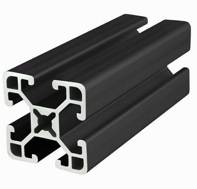 "8020 Inc TSlot 15 Series 1.5 x 1.5 Aluminum Extrusion 1515-S-BLACK x 18/"" Long N"