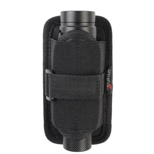 LED Flashlight Torch Lamp Nylon Pouch Holster Belt Carry Case Holder 3Size Black