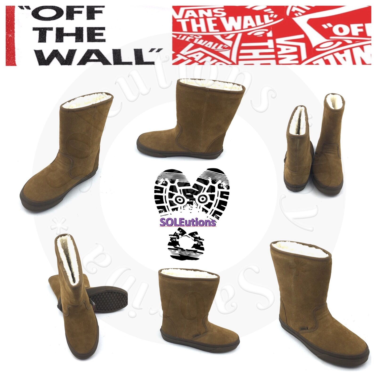 Vans Gum Slip-on Boot (Suede) Ermine/Dark Gum Vans W10.5 5c8539