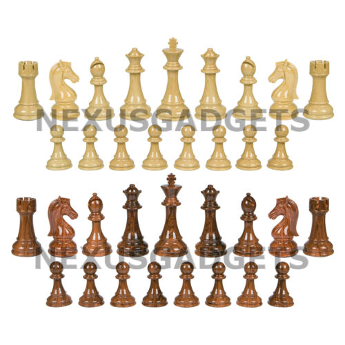 NO BOARD LARGE 3 Inch King Pimo Chess PIECES ONLY Weighted Set EXTRA QUEENS