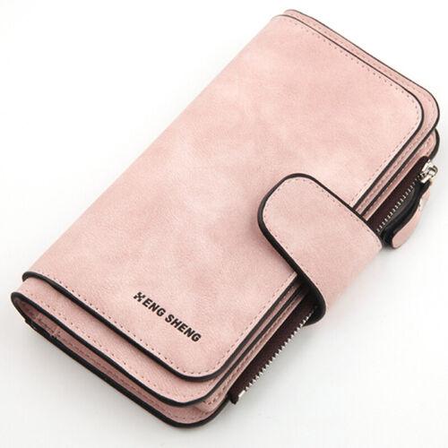 Damen PU Leder Portemonnaie Geldbörse Portmonee Geldbeutel Börse Handtasche