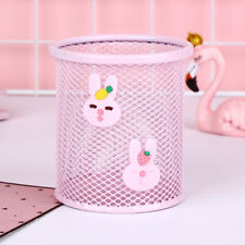 Pencil Holder Metal Mesh Square Pen Pot Cup Case Container Office Supplies