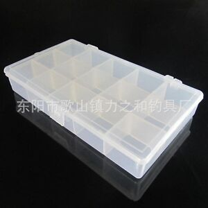 Plastic Storage Box Changeable Compartment Fishing Tackle Box Beads
