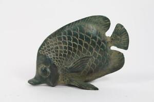 Skulptur-Figur-Bronze-Fisch-Antik-Stil