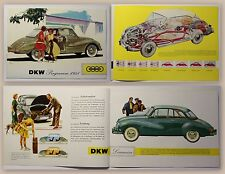Original Werbeprospekt Auto Union DKW Programm 1958 Automobile Oldtimer Audi xz