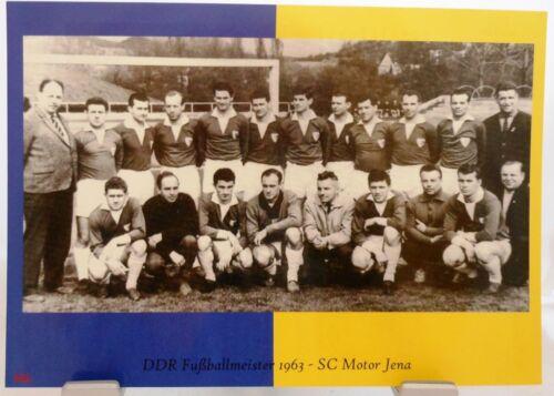 Fan Big Card Edition E7 DDR Fußball Meister 1963 SC Motor Jena