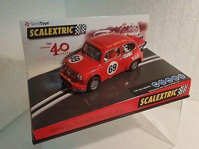 pack 40 Jubiläum Ref 6904 Kinderrennbahnen Qq Scalextric Fiat 600 Abarth #69 Rot