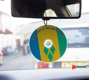 St-Vincent-amp-The-Grenadines-flag-Car-Cd-dangler