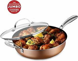 Gotham Steel Copper Cast Jumbo 5.5'' Quart Nonstick Cooker - As Seen on TV, NEW
