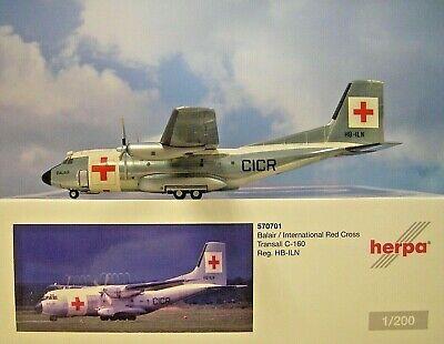 Herpa Wings 1:200 transall c-160 Balair HB-Iln 570701 modellairport 500