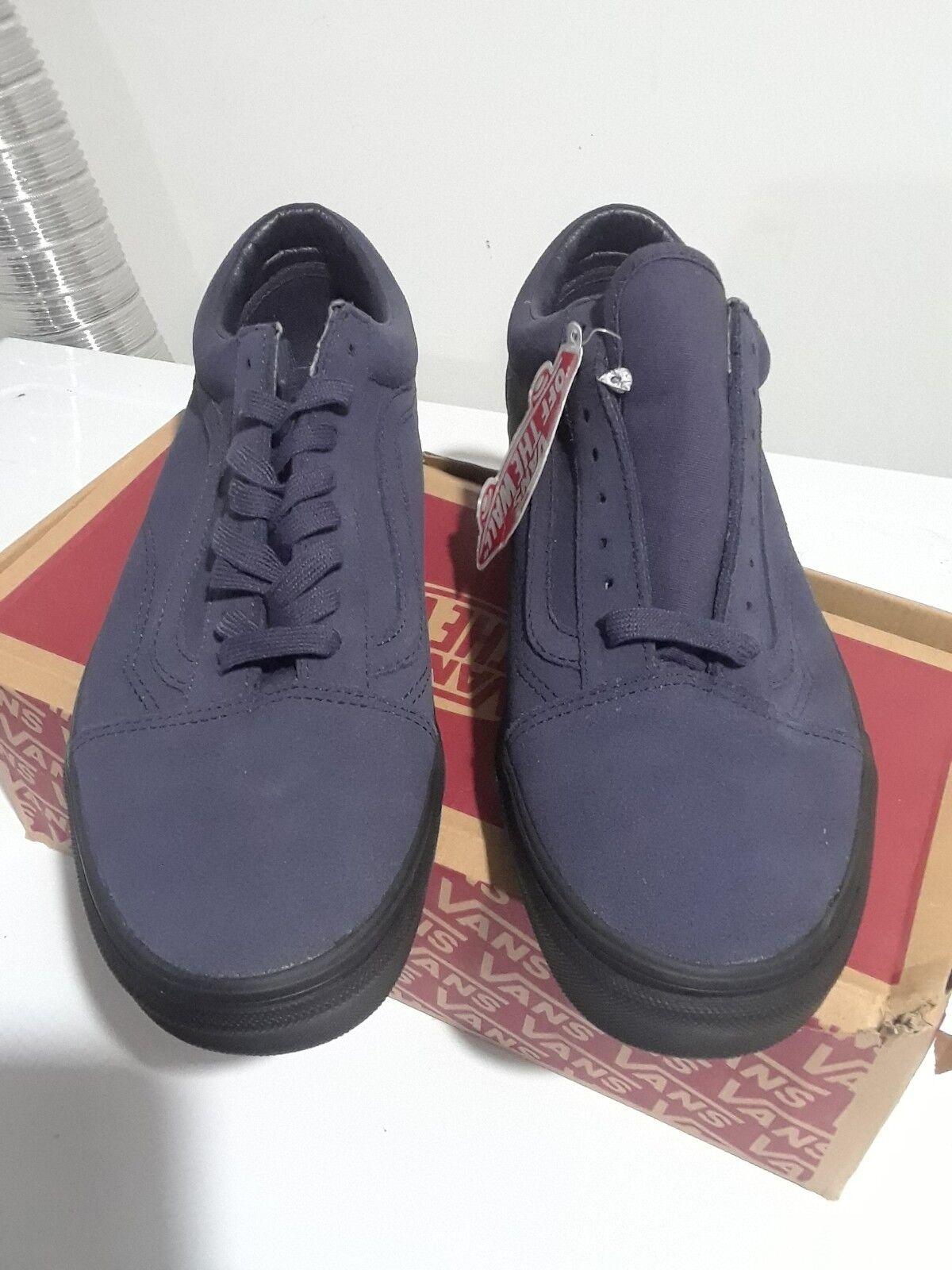 Vans Old Größe Skool Suede Sneakers Schuhes Größe Old 10 NIB Blau 5af276