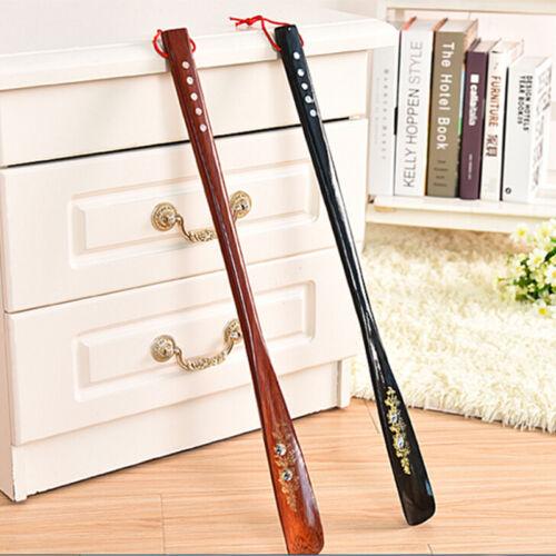 Flexible Long Handle Shoehorn Shoe Horn AID Stick  Wooden 55cm