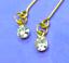 Dreamz RHINESTONE DIAMOND DROP Earrings w// GOLD Settings Barbie Doll Jewelry
