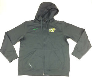 New-Nike-DeSoto-Eagles-Full-Zip-THERMA-FIT-Football-Hoodie-Men-039-s-L-Gray-615696