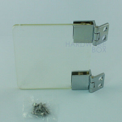 """cabinet glass door clamp hinge chrome glass thickness 1/4"""""""