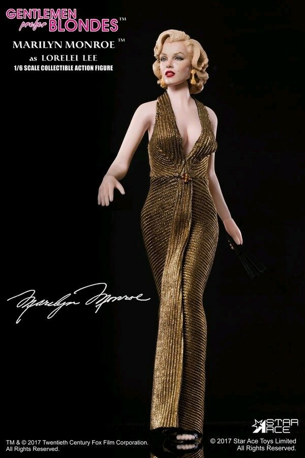Marilyn Monroe - Gold Dress 30cm 1:6 Scale Action Figure