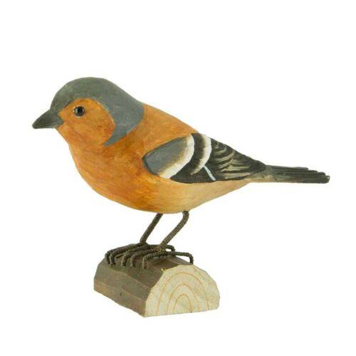 Pinson sculpté oiseau bois