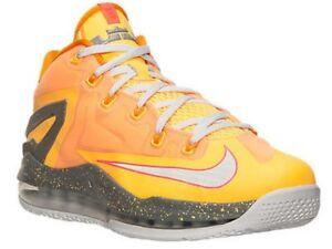 Nike-LeBron-11-XI-Low-Floridians-Mango-642849-800-Basketball-Shoes-Size-12-Laker