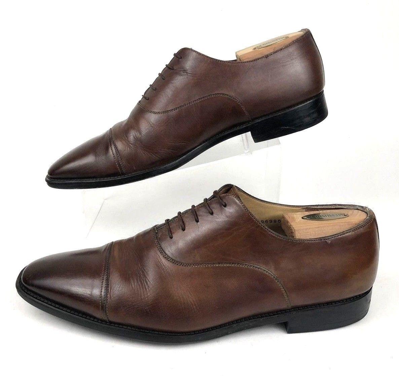 risposte rapide SANTONI    Darian Marrone Leather Leather Leather Lace Up Plain Cap Toe Oxfords   Uomo 12 D  varie dimensioni