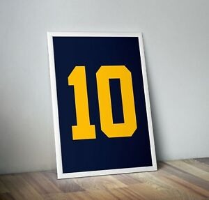 huge selection of a2b9a 6ebee Details about Tom Brady Jersey Poster College Jersey 18x24 Michigan  Wolverines Throwback
