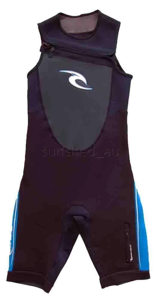 Rip Curl Dawn Patrol SHORT JOHN CHEST ZIP Mens Wetsuit SPRING Size S bluee  SALE