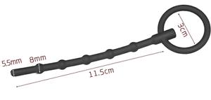 Silicone-Ribbed-Penis-Plug-Ring-Urethral-Probe-Dilator-Catheter-a