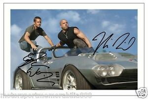 PAUL-WALKER-amp-VIN-DIESEL-FAST-AND-FURIOUS-1-8-SIGNED-AUTOGRAPH-6X4-PHOTO-PRINT