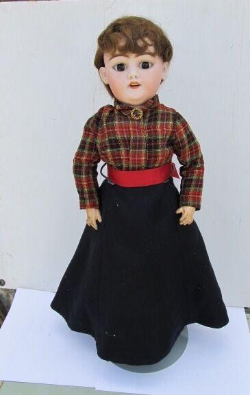Antiguo Simon & Halbig SH 1079 Dep alemán Biscuit muñeca ropa original de 23.