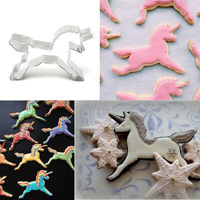 Molde Cortador de Unicornio Caballo Cookies Galletas Hornear Molde de pastelería de Decoración de Pasteles