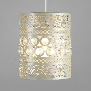 Details About Cream Ornate Moroccan Style Metal Ceiling Pendant Light Shade Lantern Lampshade