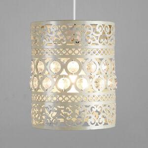 Crema-de-metal-ornamentales-marroqui-Estilo-Pantalla-de-Lampara-Colgante-De-Techo-Pantalla-De