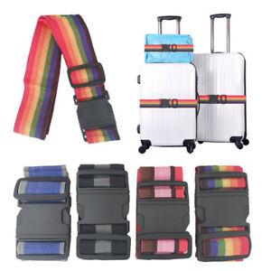 Suitcase Luggage Strap Travel Baggage Tie Down Belt Lock Buckle Adjustable