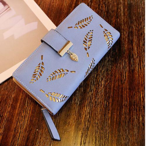 Womens RFID Blocking PU Leather Card Holder Purse Wallet Clutch Bag Lady Handbag